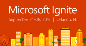 MS Ignite 2018 website