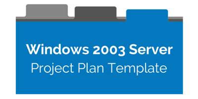 Download free Windows Server 2003 Project Plan Template