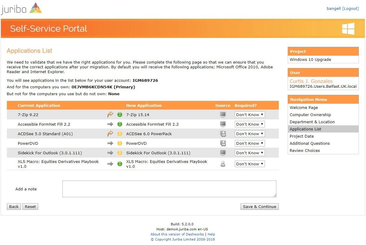 Self-Service Portal Application List Verification.jpg
