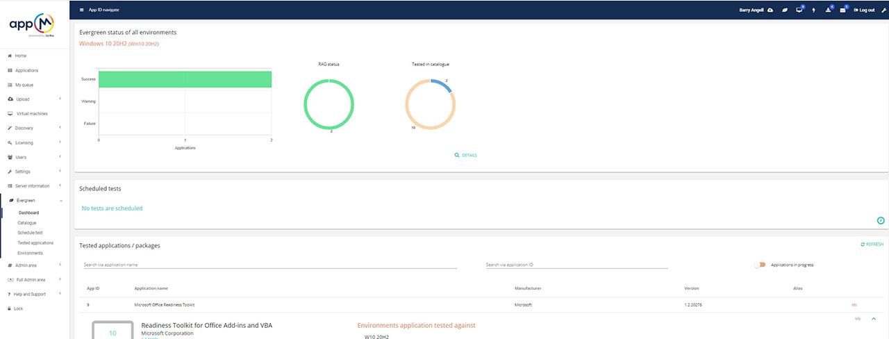 AppM Testing Dashboard 1200x490