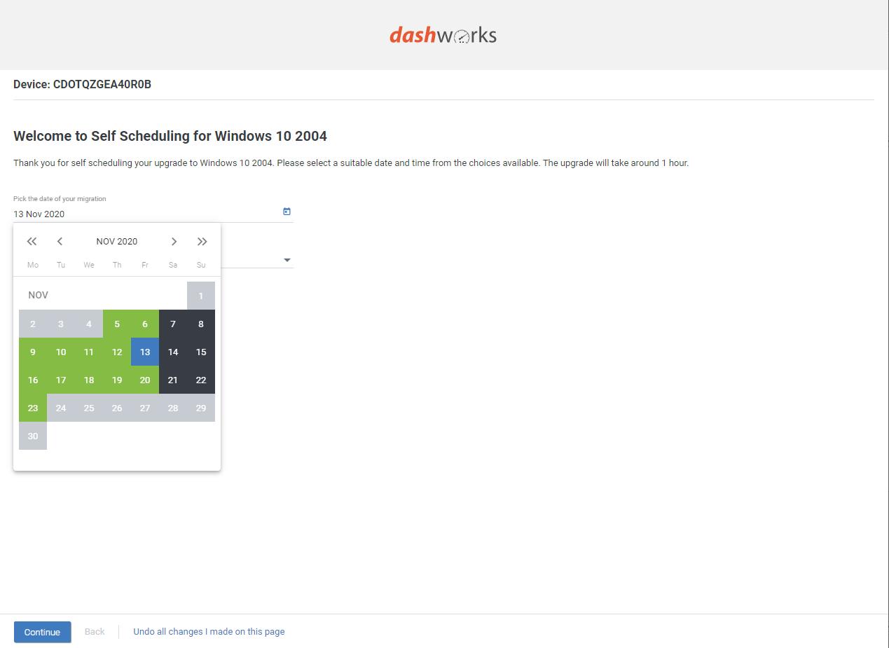 Dashworks 553 self service date tasks