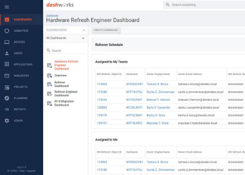 Project Pack - Hardware Refresh - Engineer Dashboard Slider Size