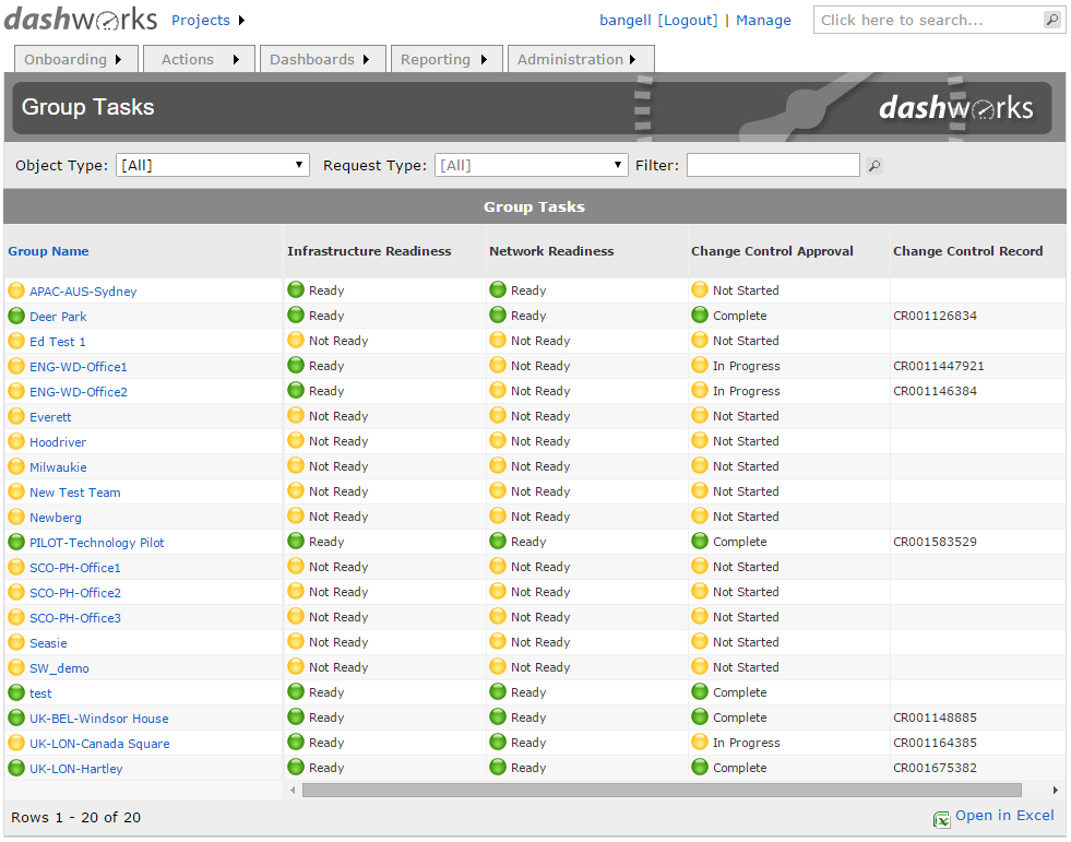 Dashworks Project System for Computers and Users: Group Task Tracking