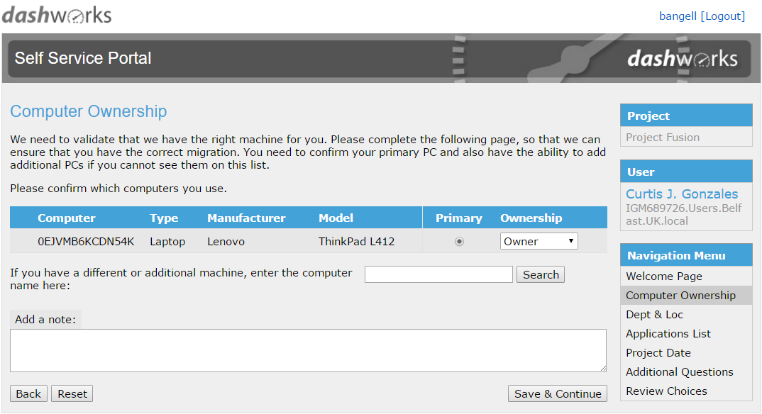 Dashworks self service it migration portal - Portal entree ownership ...